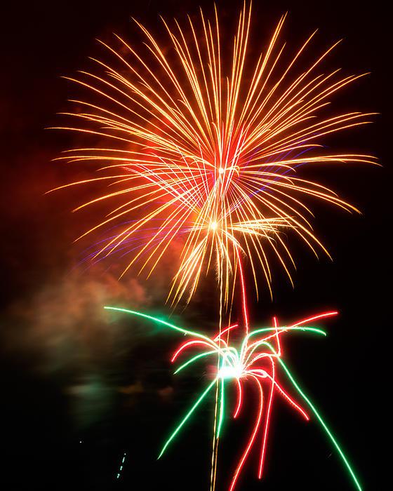 Fireworks 2011 Series 4 Print by Chris Tobias