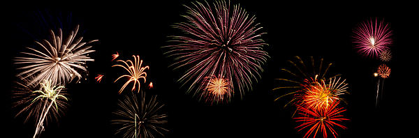 Fireworks Panorama Print by Bill Cannon