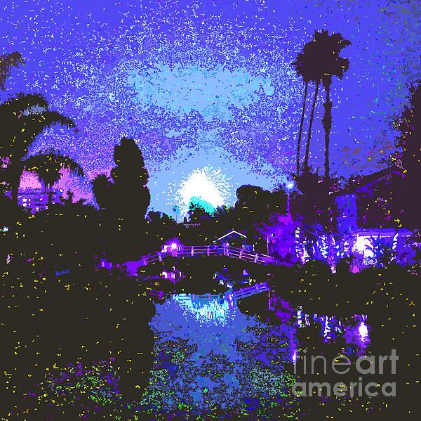 Fireworks Venice California Print by Jerome Stumphauzer