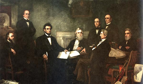 First Reading Of The Emancipation Proclamation Of President Lincoln Print by Nomad Art And  Design