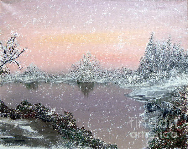 First Snowfall Print by Alys Caviness-Gober