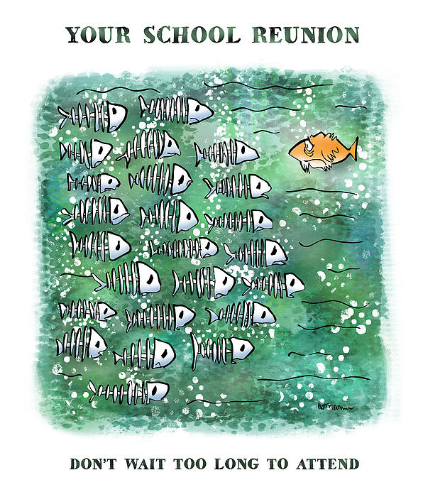Fish School Reunion Print by Mark Armstrong