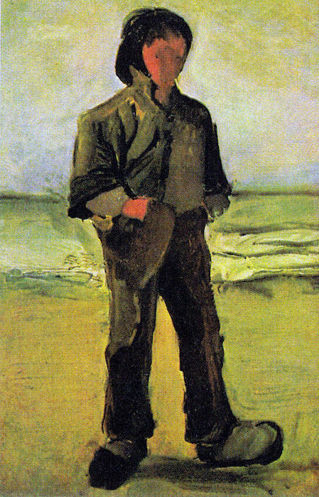 Fisherman On The Beach Print by Vincent Van Gogh