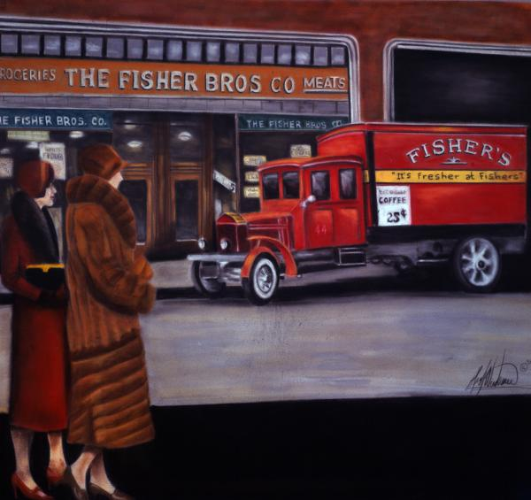 Fisher's Store Print by Leah Wiedemer