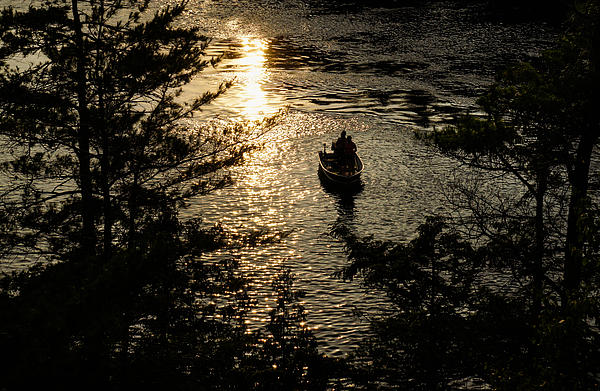 Fishing At Sunset Thousand Islands Saint Lawrence River