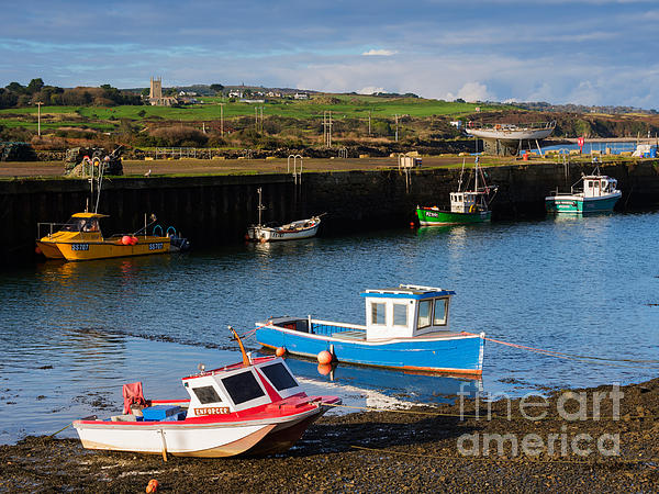 Fishing Boats In The Harbour At Hayle Print by Louise Heusinkveld