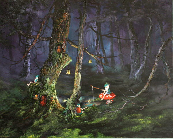 Jean Walker - Fishing for supper on Cannock Chase