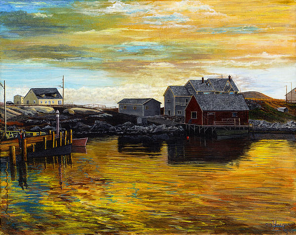 Fishing Village Maine  Print by Stuart B Yaeger
