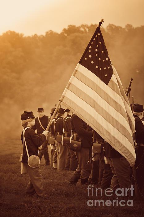 Flag Carrier Print by Kim Henderson