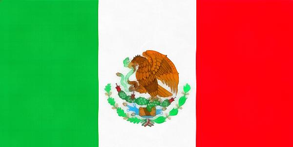 Flag Of Mexico Print by Dan Sproul