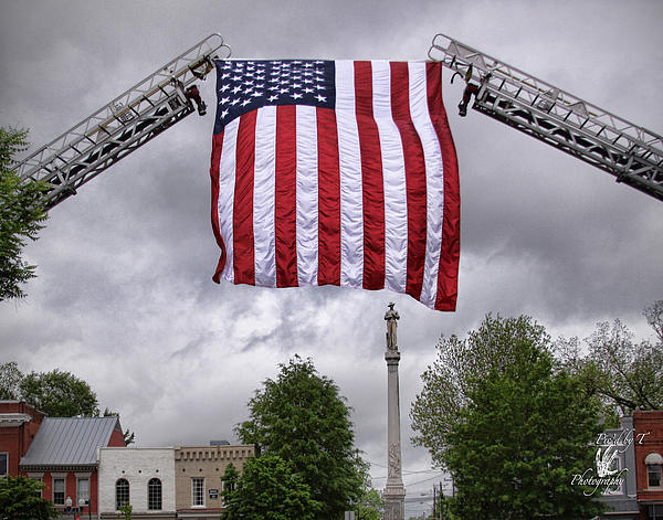 Flag Over Franklin Print by Pic'd by T Photography