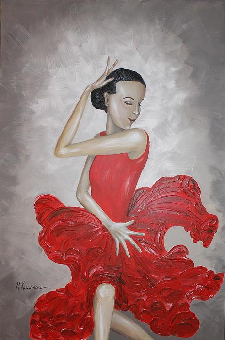 Flamenco Dancer I Print by Mariya Kazarinova