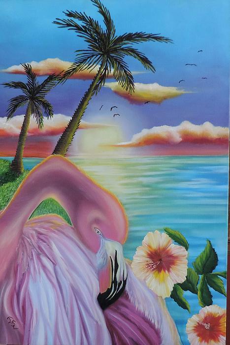 Dianna Lewis - Flamingo Sunset