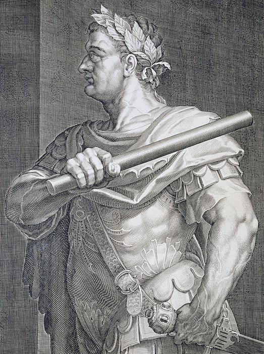 Flavius Domitian Print by Titian