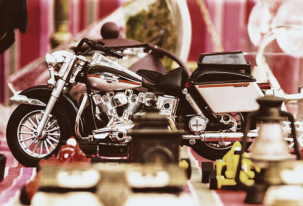 Flea Market Series - Motorcycle Print by Marco Oliveira