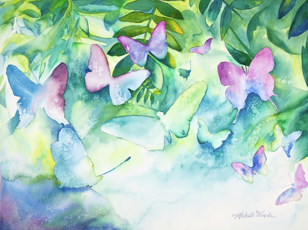Flight Of The Butterflies Print by Michelle Wiarda