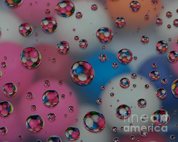 Floating Gum Balls Print by Paul Ward
