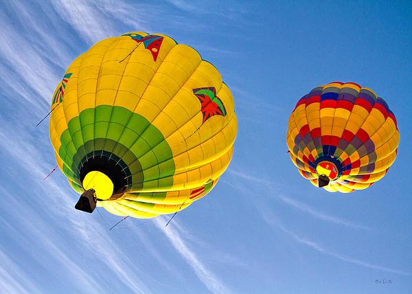 Floating Upward Hot Air Balloons Print by Bob Orsillo
