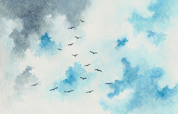 Flock Of Birds Print by Michael Vigliotti