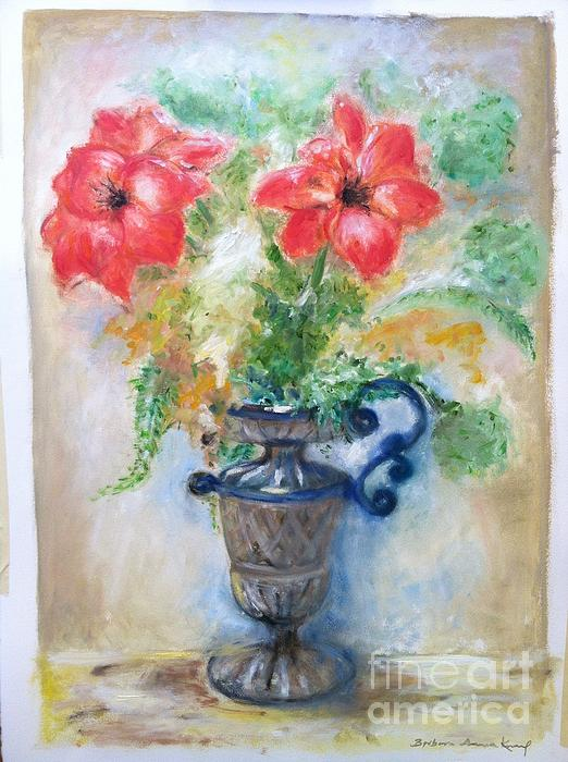 Floral In Urn Print by Barbara Anna Knauf