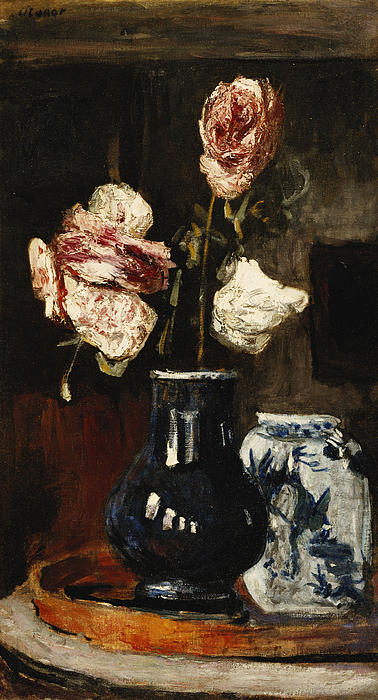 Floral Still Life Print by Roderic O Conor