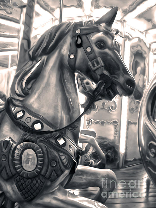 Florence Italy Carousel - 03 Print by Gregory Dyer