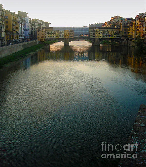 Florence Italy - Ponte Vecchio - Sun Rise Print by Gregory Dyer