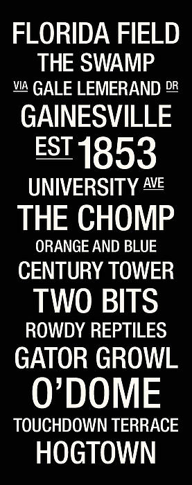 Florida College Town Wall Art Print by Replay Photos