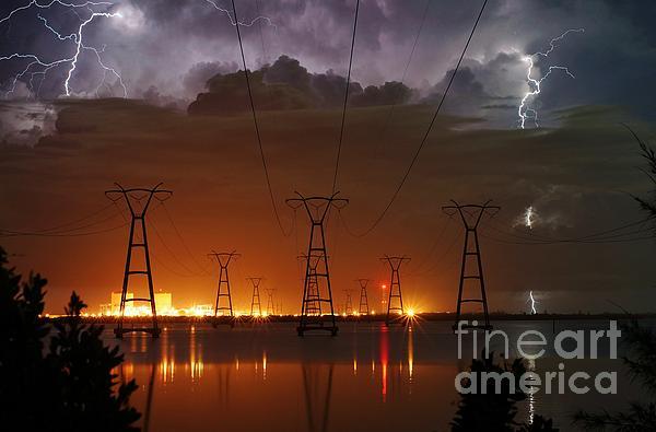 Florida Power And Lightning Print by Lynda Dawson-Youngclaus