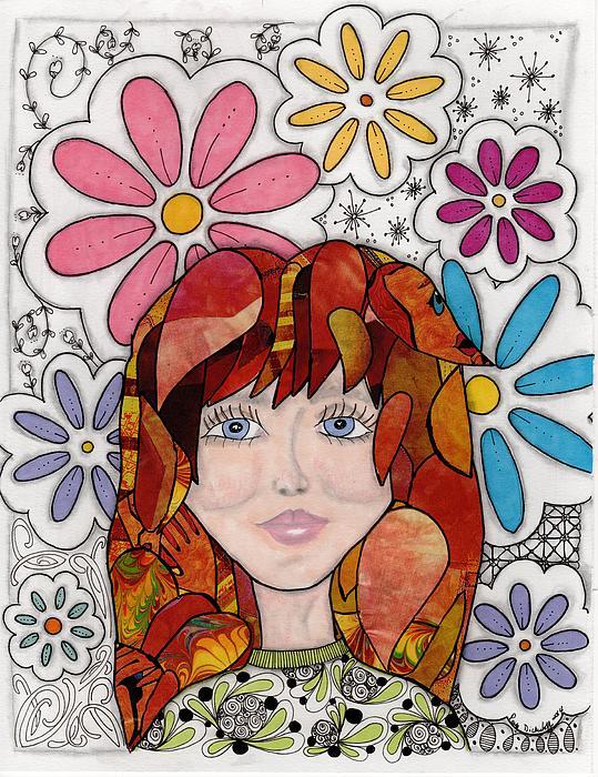 Flower Girl Print by Paula Dickerhoff