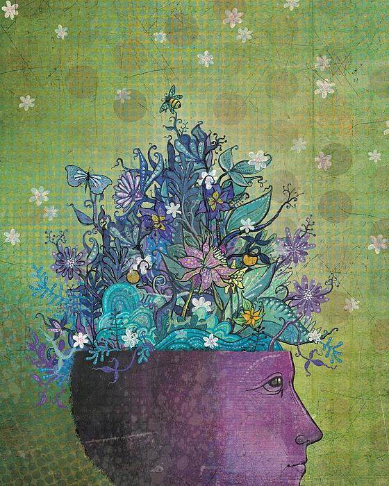 Flower-head1 Print by Dennis Wunsch