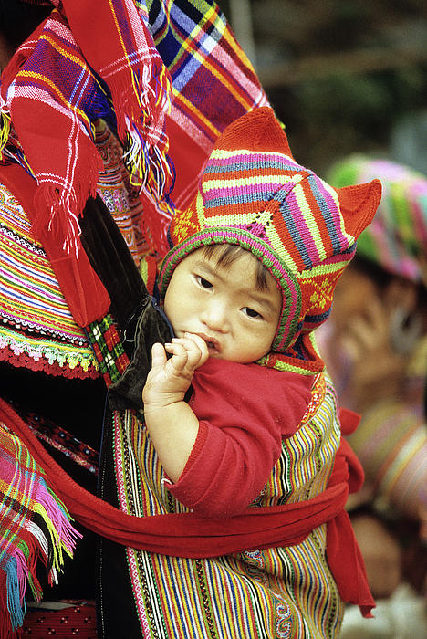Flower Hmong Baby 01 Print by Rick Piper Photography