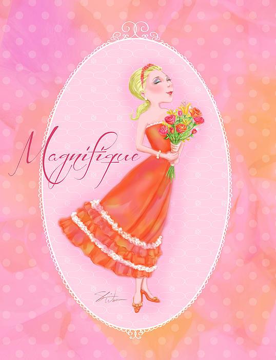 Flower Ladies-magnifique Print by Shari Warren