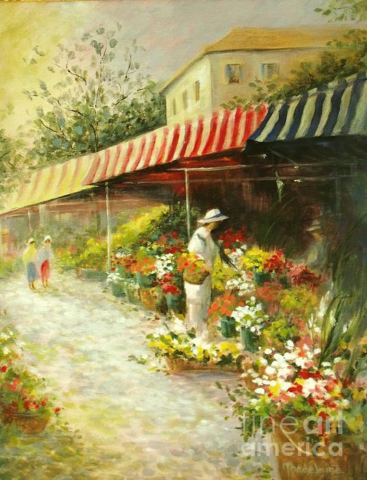 Flower Market Print by Madeleine Holzberg