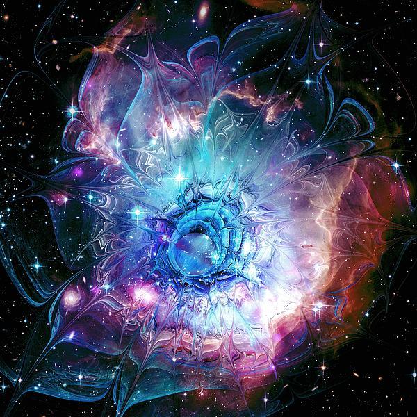Flower Nebula Print by Anastasiya Malakhova