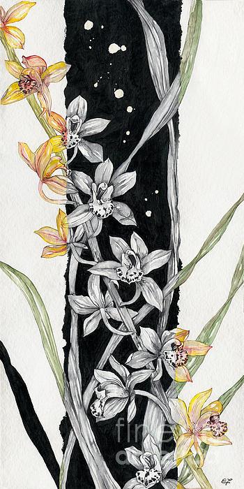 Flower Orchid 07 Elena Yakubovich Print by Elena Yakubovich