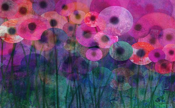 Flower Power Six Print by Ann Powell