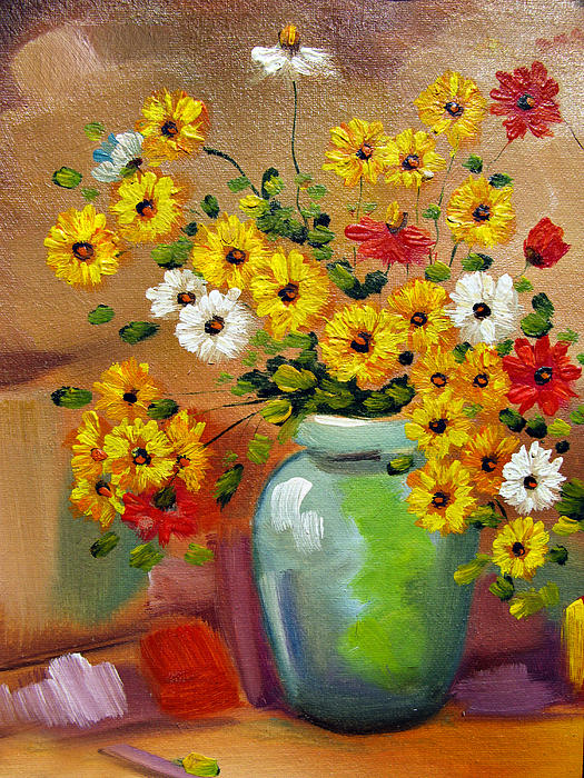 Flowers - Still Life Print by Daliana Pacuraru