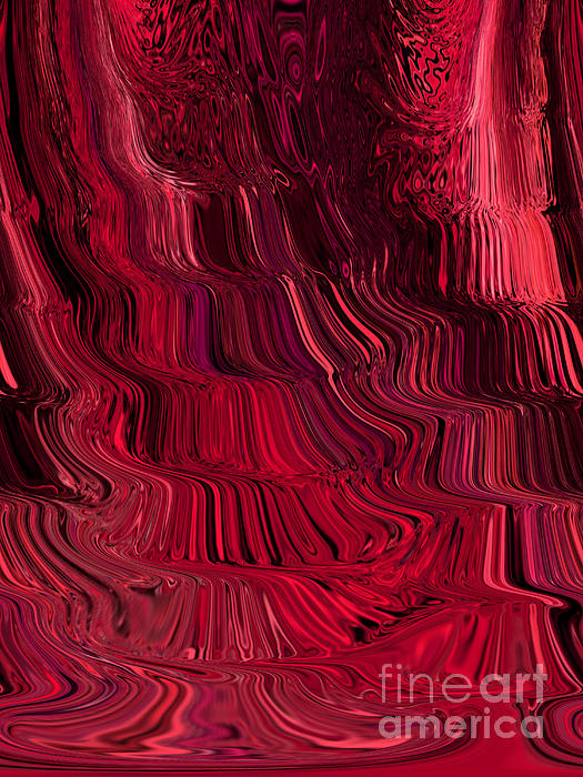 Adri Turner - Flowing Magma Magenta Red Pink Purple Abstract Water Ripple Flow 1