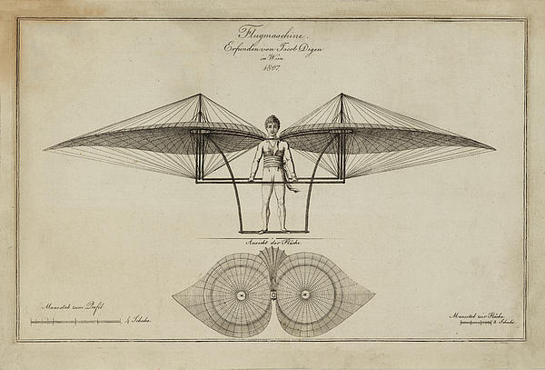 Flugmashine Patent 1807 Print by Digital Reproductions