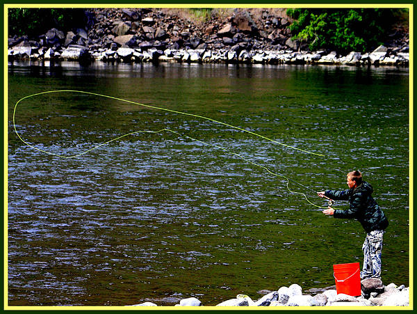 Fly fishing on the snake river by john langdon for Snake river fly fishing