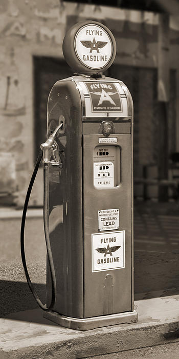 Flying A Gasoline - National Gas Pump 2 Print by Mike McGlothlen