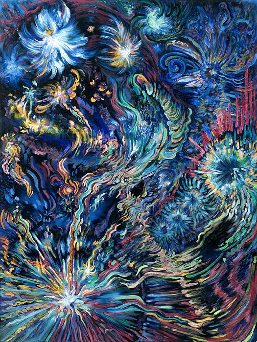 Flying Spirits Print by Karen Nell McKean