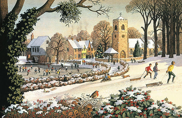 Focus On Christmas Time Print by Ronald Lampitt