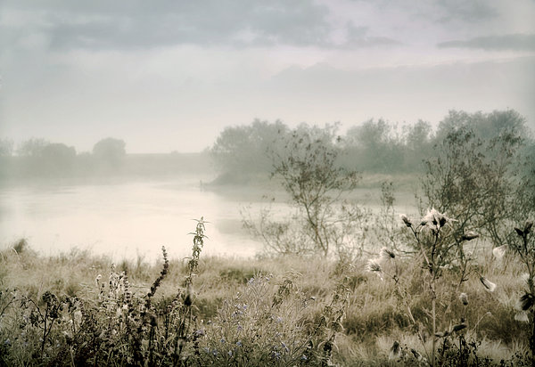 Fog Over The River. Stirling. Scotland Print by Jenny Rainbow