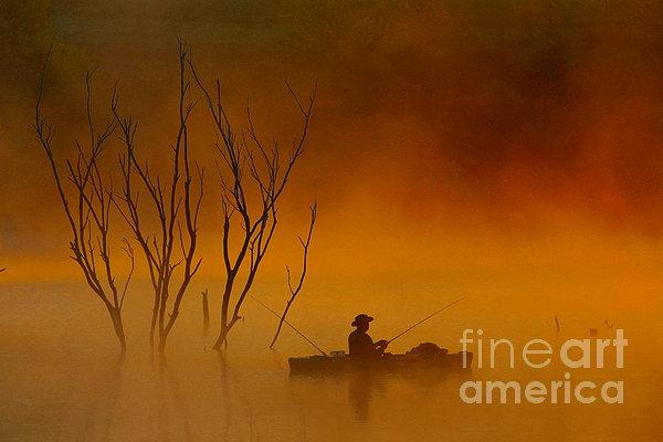 Elizabeth Winter - Foggy Morning Fisherman