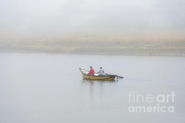 Foggy Nestucca Print by Mike  Dawson