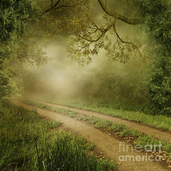 Foggy Road Photo Print by Boon Mee