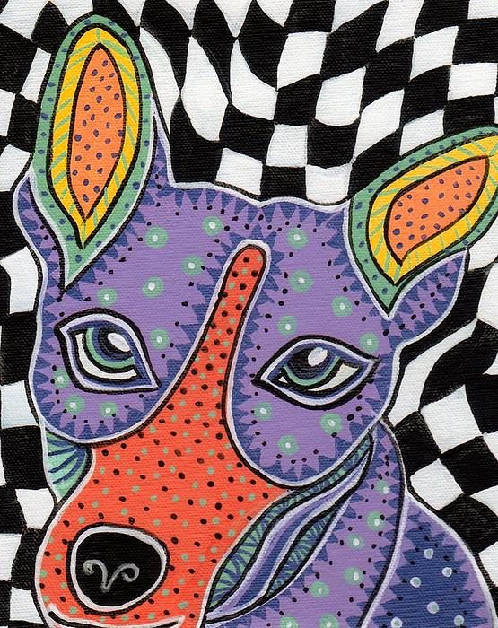 Folk Art Rat Terrier Print by Sarah  Niebank