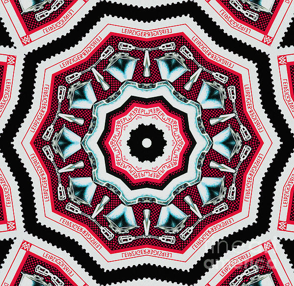 Food Mixer Mandala Print by Andy Prendy